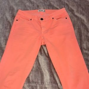 Scarlett Boulevard Neon Orange Jeggings